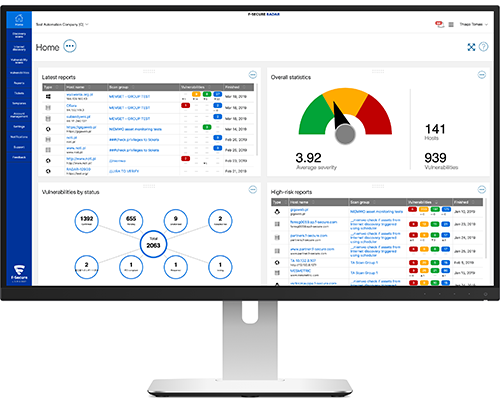 F-Secure Radar | Vulnerability management and scanning with web topology  mapping | F-Secure