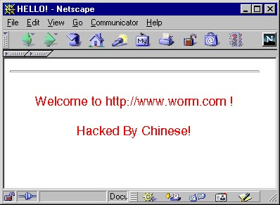 Worm:W32/CodeRed Description | F-Secure Labs