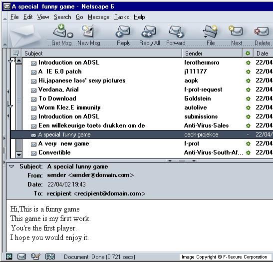 Worm W32 Klez H Description F Secure Labs