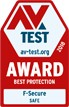 AV-TEST Best Protection award 2018 F-Secure SAFE